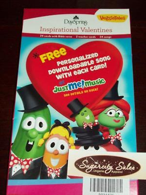 NEW 2011 BOXED DAYSPRING VEGGIE TALES VALENTINE CARDS 24 CT (Veggie Tales Halloween)
