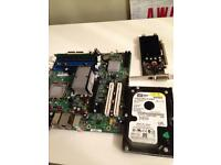 INTEL 775 motherboard, 2gb ddr2, geforce 7100 gs, 40gb Sara hard drive