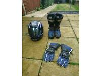 Motorbike Clothing - Helmet, gloves, boots