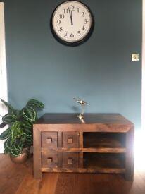 Dark Mango Wood TV stand/ unit