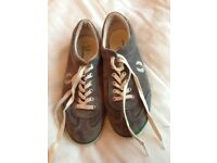 Men's Grey Fred Perry Suede Trainers
