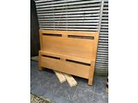 Solid Oak Cargo double bed frame