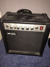 Elevation electric guitar with amp