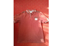 Mens size medium and large workwear t shirt polo shirts with stains job lot