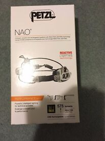 Petzl Nao Headtorch and spare battery