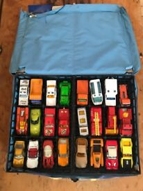 24 Original Matchbox Cars with carry case
