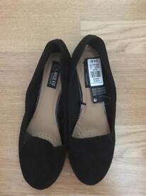 Black shoes, size 4 wide fit