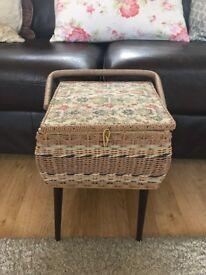 Vintage Retro Kitch Sewing Box 1950's