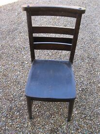 OLD CHURCH / CHAPEL CHAIR WITH BOOK HOLDER. More seats, pews & benches for sale.