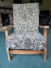 Retro vintage easy chair for upholstery project