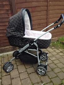 Mama and papas 8 in 1 travel system pram with car seat and isofix .