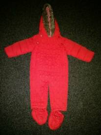 Red Snowsuit / Pramsuit