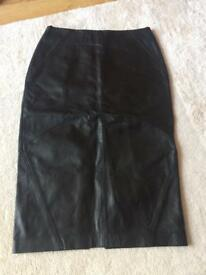 M&S leather skirt