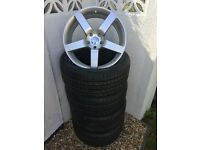 """20"""" Brand New Alloy Wheels & Tyres For - Vw Transporter T5 / BMW X5 / Range Rover - 950kg Weight"""