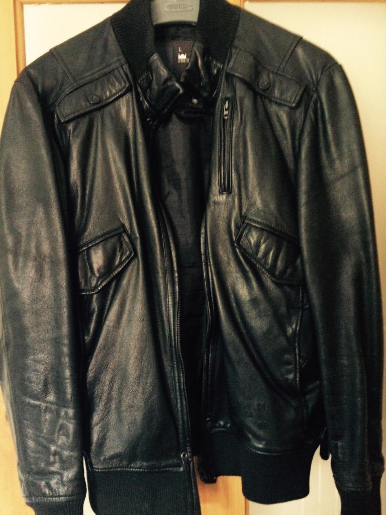 g star leather jacket in alexandria west dunbartonshire. Black Bedroom Furniture Sets. Home Design Ideas