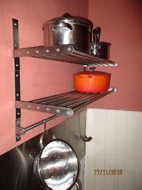 stainless steel kitchen / utility shelve 80 x 27cm