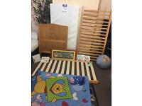 Winnie the Pooh Pine Cot And accessories look for photos