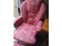 Nursing/rocking chair with foot stool