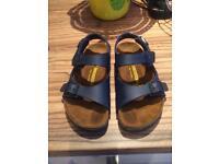 Kids Navy Birkenstock Sandals
