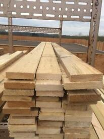 """Timber for sale. 4"""" by 1"""" at 8 ft long. £2 each. 60 left"""