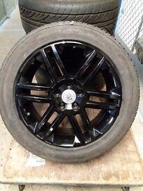 "17"" Vauxhall Alloy wheels in pinano black 215 50 17"
