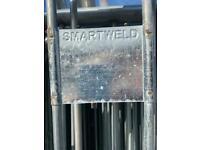 Smart weld pedestrian barriers