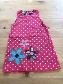 Frugi Girls Dress & Cardigan; age 3-4