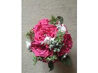 Round artificial bridal bouquet