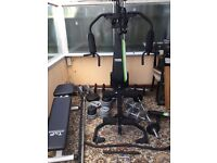 York fitness multi gym, TNP free weights bench & variety of weights