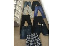 Boys 10 year old - 11 year old jeans joggers shorts bundle