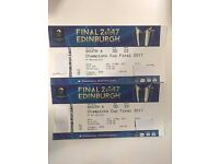 2017 European Cup Rugby Final in Edinburgh and challenge cup final tickets