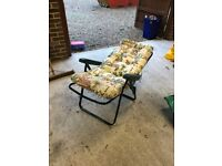 Reclining garden chair - never used!