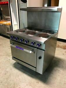 Imperial IR6E, Cuisinière électrique Commerciale 6 Ronds / 6 Round Electric Commercial Kitchen Range