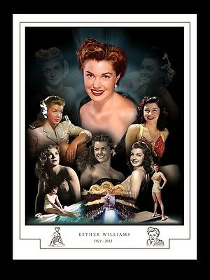 ESTHER WILLIAMS MONTAGE PRINT 1921 - 2013