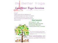 Next Laughter Yoga Session is on the 15th of February at 7:30 Pm