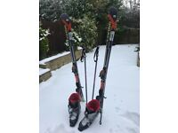 Atomic Skis(166) , boots(size 9) bindings and poles