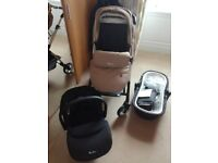 Silver Cross Wayfarer Travel System/Pram (Colour - Sand) - GREAT CONDITION