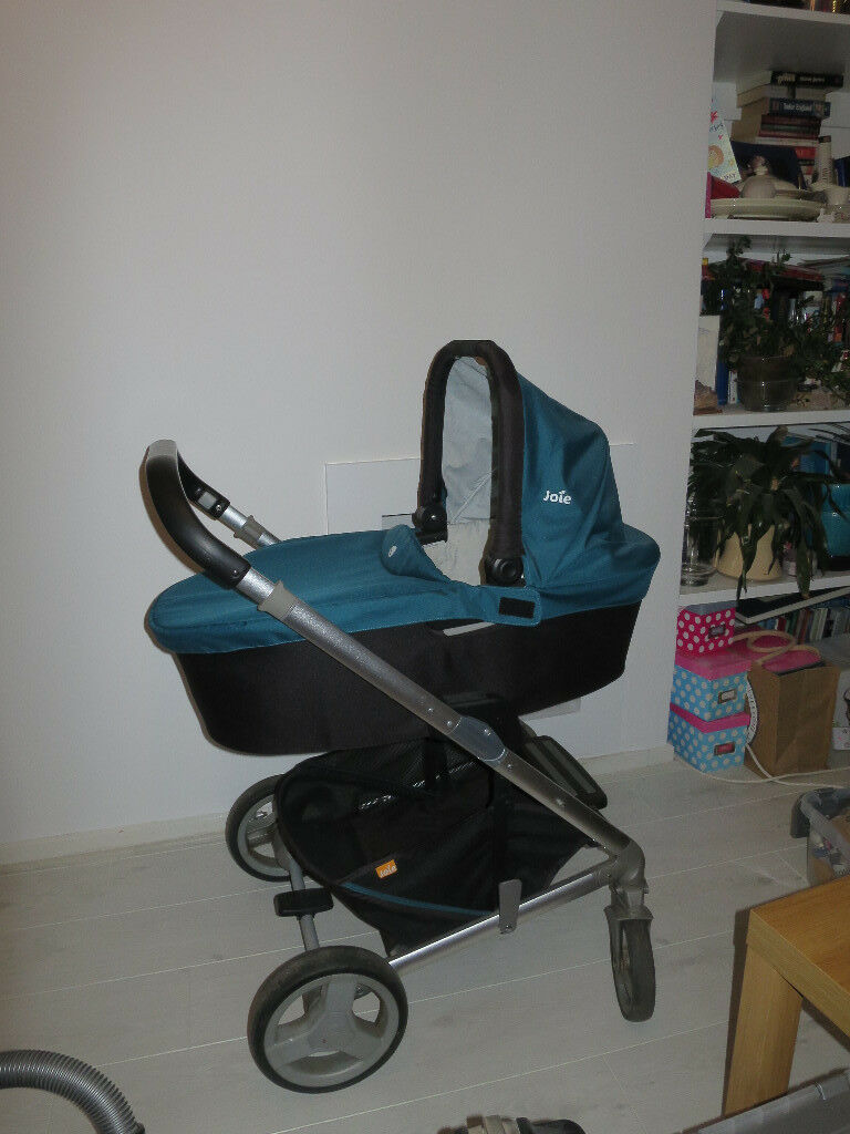 Joie Chrome travel system, stroller with carrycot