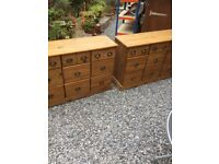 2 x Solid Pine Sideboards