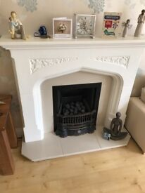 Fire place surround and gas fire