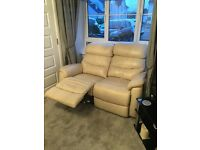 2 seater leather recliner sofa Setee
