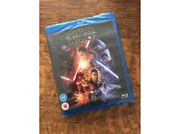 Star Wars the Force Awakens Blu Ray New and Sealed