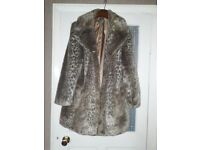 Lavitta coat size 20 animal print faux fur coat excellent condition worn once