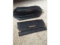 River island purse and make up bag set