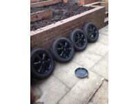4 X Mini Cooper alloys with good tyres