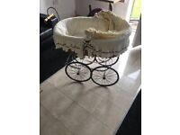 baby Moses basket on wheels £50