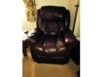 Electric riser recliner armchair with heat and massage facility