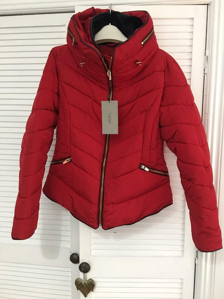 9c1e3a52 Lovely red Zara winter jacket | in Ayr, South Ayrshire | Gumtree