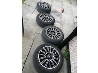 "16"" Alloys wheels 4x100 tyres 205 55 16"