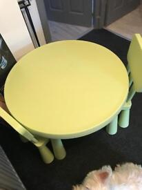 Kids ikea table x2 chairs